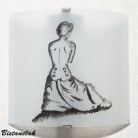 Applique luminaire décoratif blanc motif la femme-violon