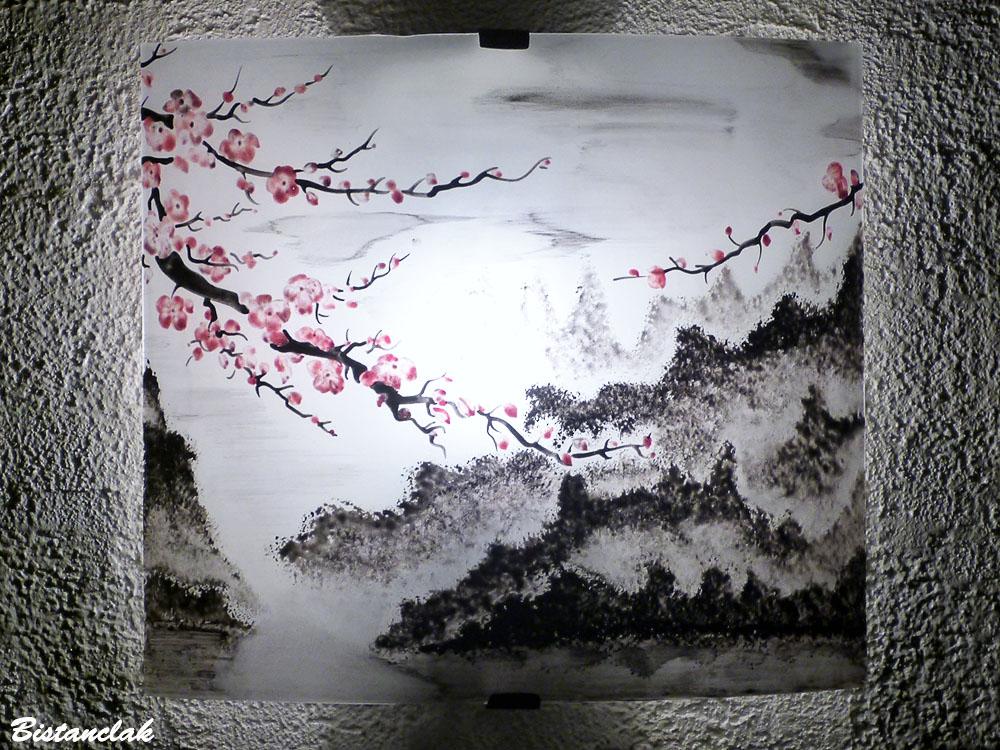 applique motif fleur de cerisier du japon