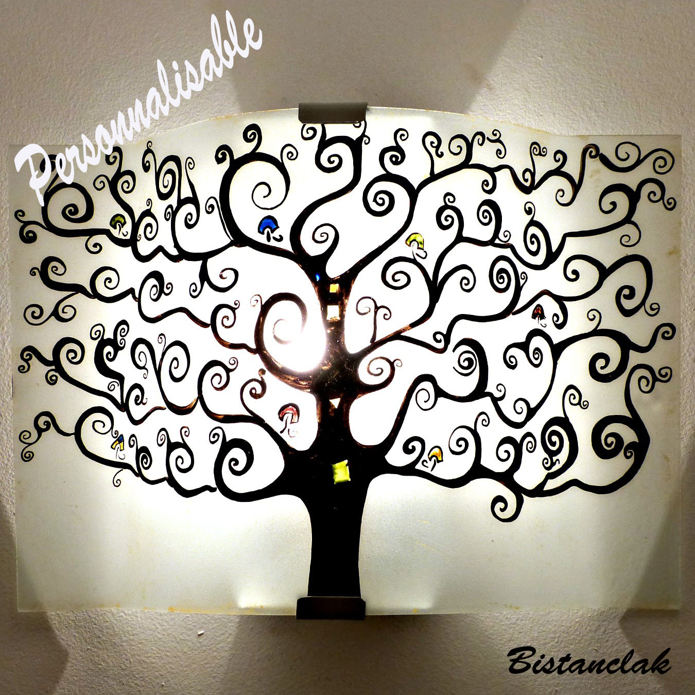 Applique d corative personnaliser motif arbre de vie - Applique decorative murale ...