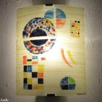 Applique murale artisanale d apres gravite de kandinsky