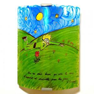 Applique murale artisanale fantaisie motif le petit prince de st exupery 10