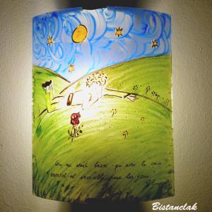 Applique murale artisanale fantaisie motif le petit prince de st exupery 12
