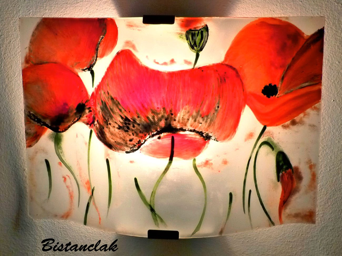 luminaire applique murale motif la danse des coquelicots. Black Bedroom Furniture Sets. Home Design Ideas