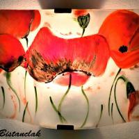Applique murale artisanale motif la farandole de coquelicots 1