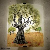 Applique murale artisanale motif olivier 1