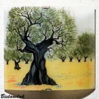lampe applique artisanale motif olivier