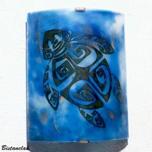 Applique murale bleu au dessin d une tortue