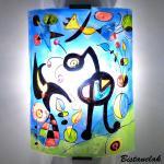 Applique murale bleu et multicolore le jardin de miro 2 1