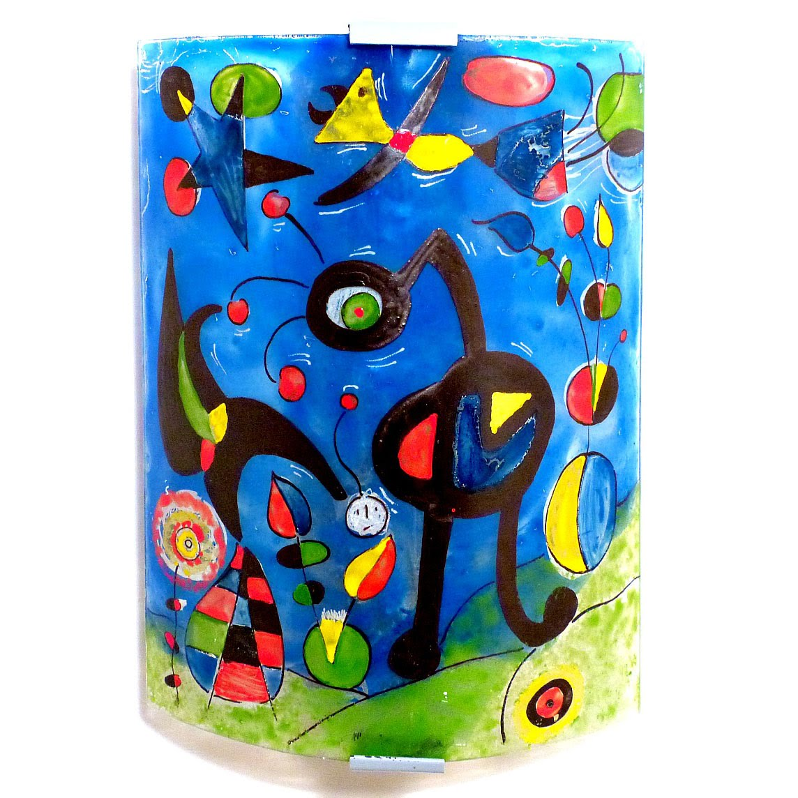 Applique murale bleu et multicolore le jardin de miro