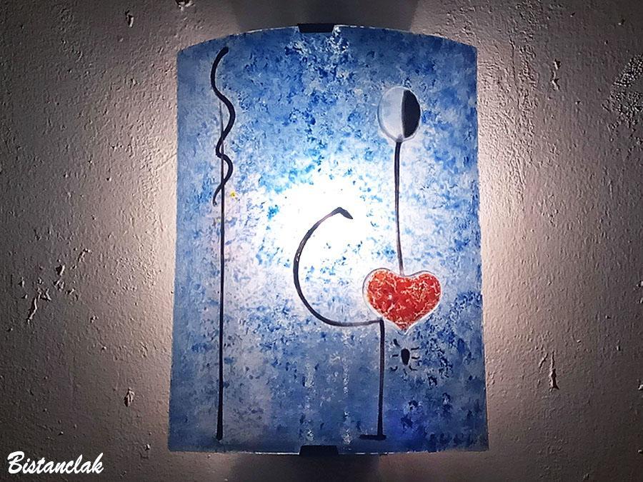 Applique murale bleu et rouge la danseuse de miro