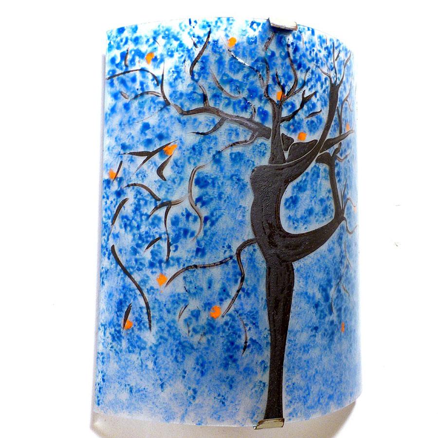 luminaire applique murale bleu et orange l 39 arbre danseuse. Black Bedroom Furniture Sets. Home Design Ideas