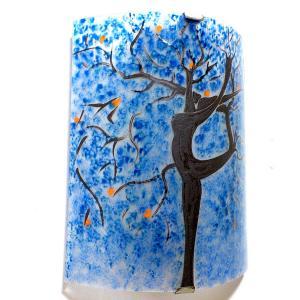 Applique murale bleu motif arbre danseuse 2