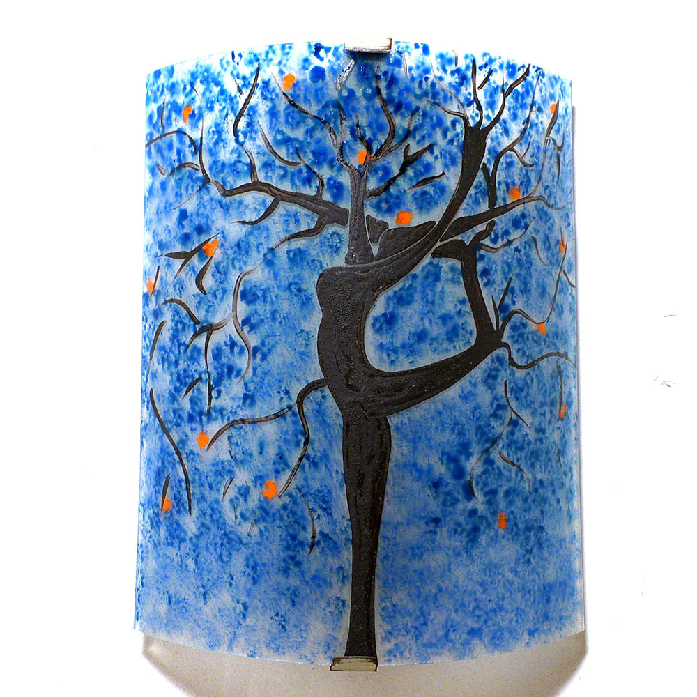 luminaire applique murale bleu et orange l 39 arbre danseuse. Black Bedroom Furniture Sets. Home Design Ideas