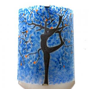 Applique motif arbre danseuse bleu