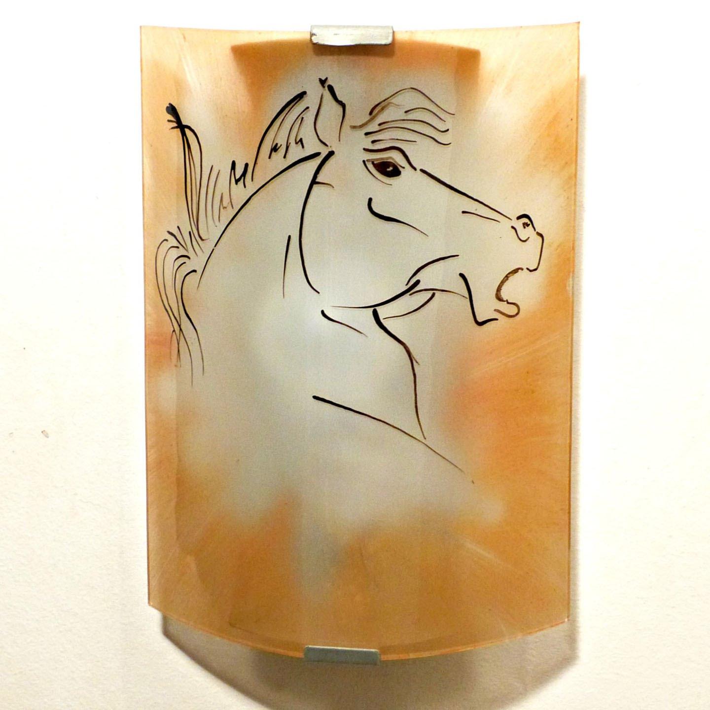 Applique murale couleur sable motif tete de cheval 1