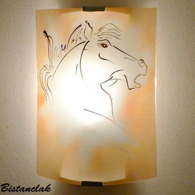 Applique décorative couleur sable motif tête de cheval