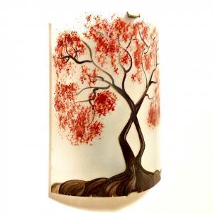 Applique murale decorative et eclairante blanche motif arbre de jane rouge 5