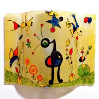 Applique jaune et multicolore motif le jardin grand de miro