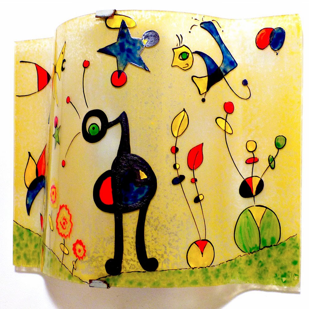 Applique murale jaune et multicolore le grand jardin de miro 3