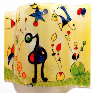 Applique murale jaune et multicolore le grand jardin de miro 3