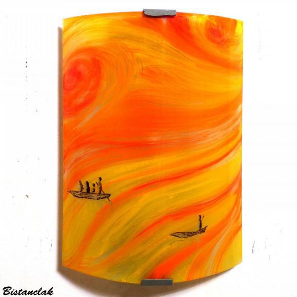 Applique murale jaune et orange