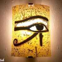 Applique murale jaune oeil oudjat