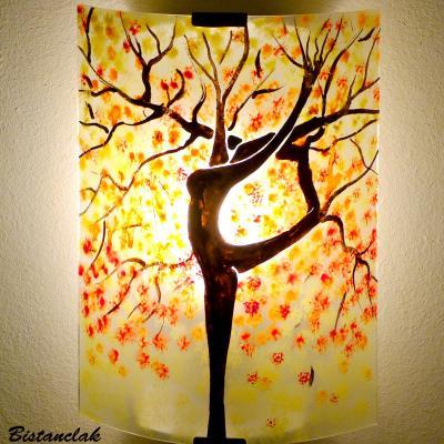 Luminaire applique murale jaune pastel orange et rouge L'arbre danseuse