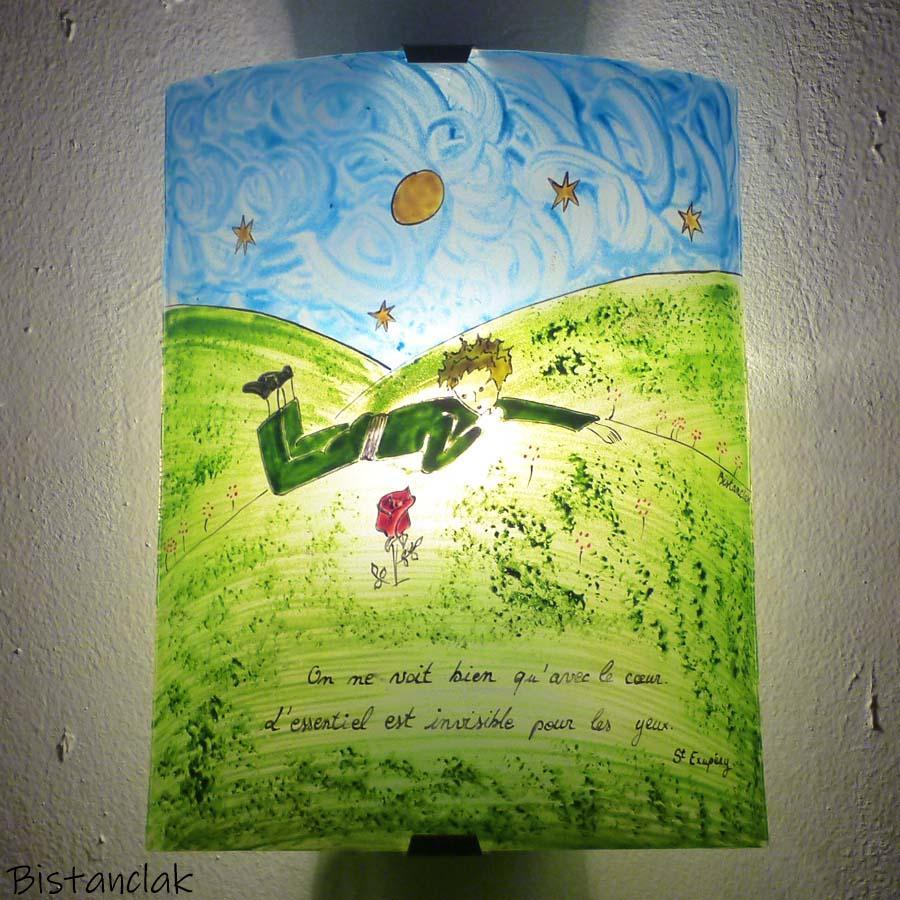 Applique murale le petit prince et sa rose