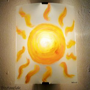 Applique murale motif soleil
