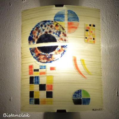 applique murale multicolore gravité d'aprés Kandinsky