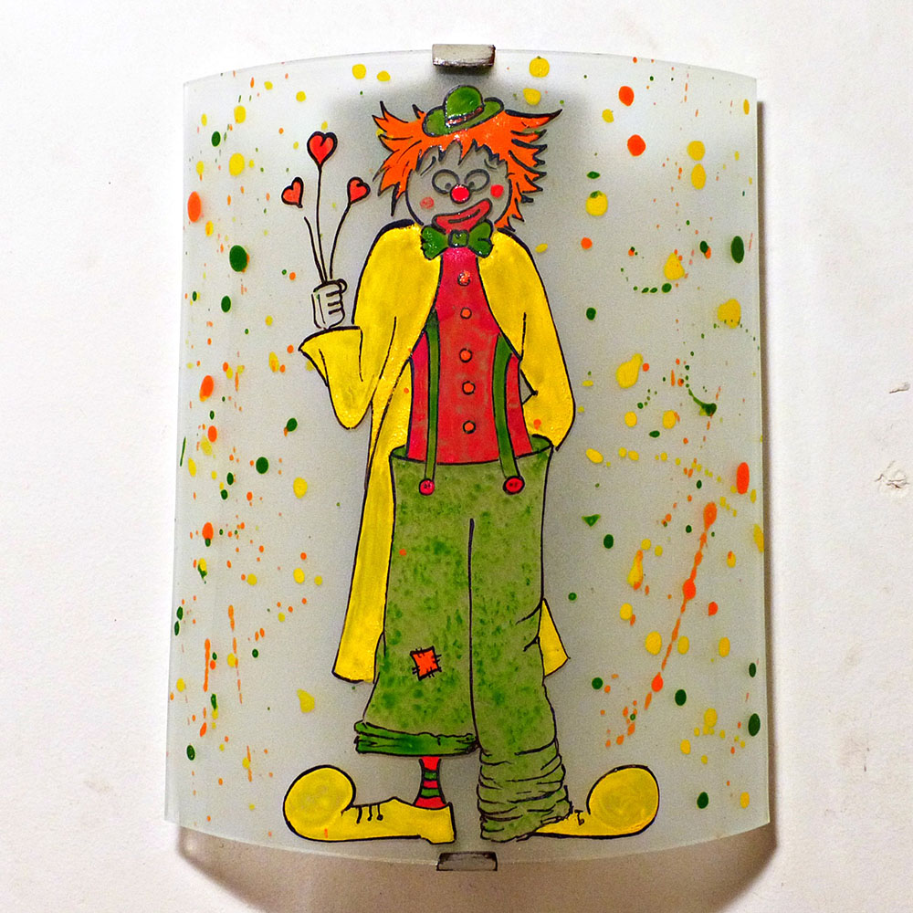 Applique murale multicolore le clown