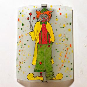 Applique murale multicolore le clown 3