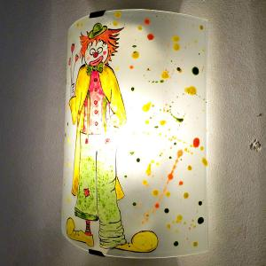 Applique murale multicolore le clown 4
