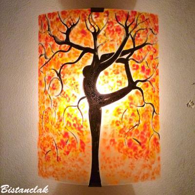 Luminaire applique murale orange et rouge L'arbre danseuse