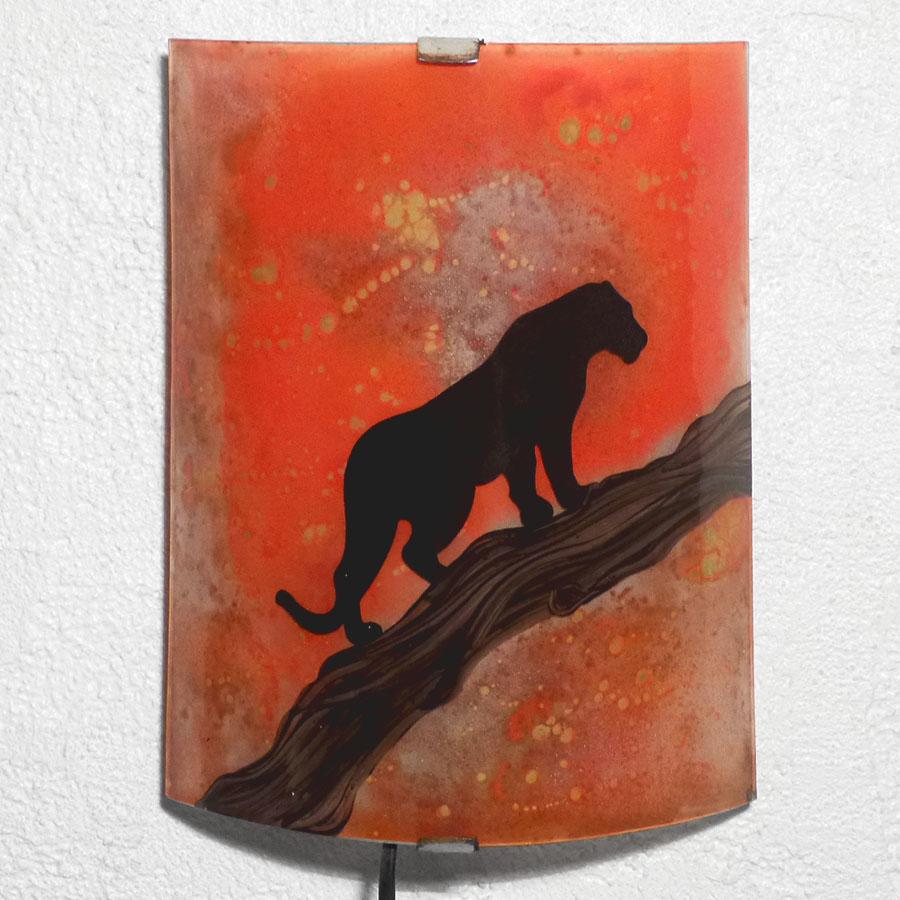 Applique murale panthere orange 3