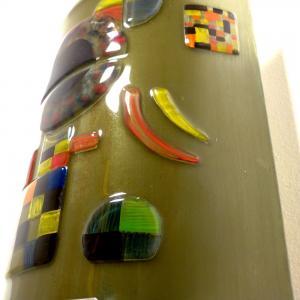 Applique murale taupe et multicolore inspire de gravite de kandinsky 6