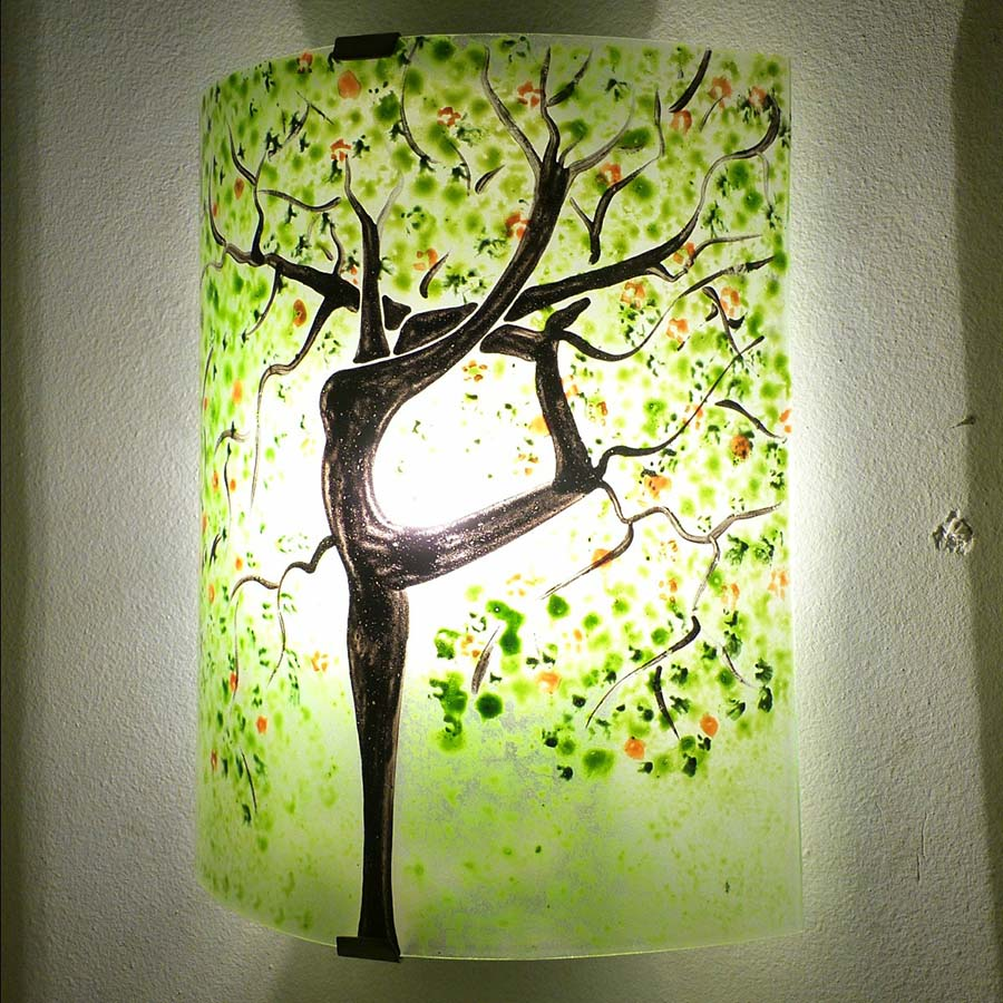 luminaire applique murale l 39 arbre danseuse vert et orange. Black Bedroom Furniture Sets. Home Design Ideas
