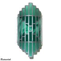 Applique murale vitrail verte tendance art deco