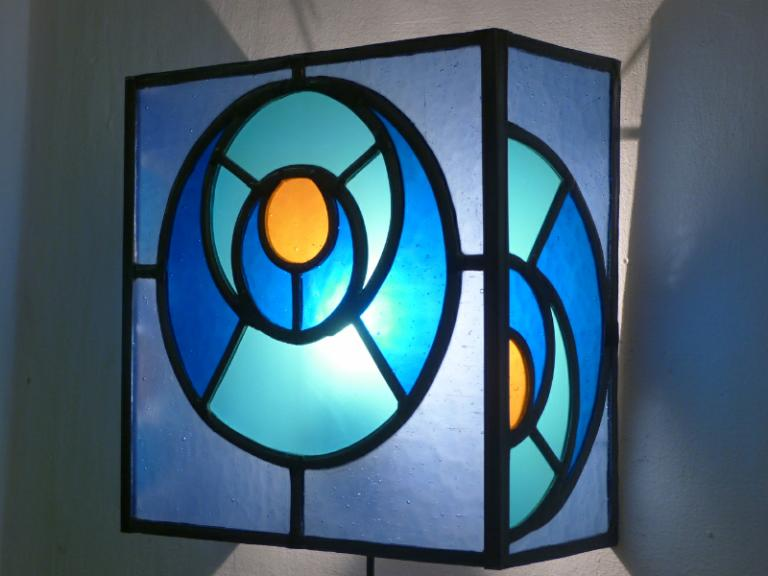 applique murale vitrail