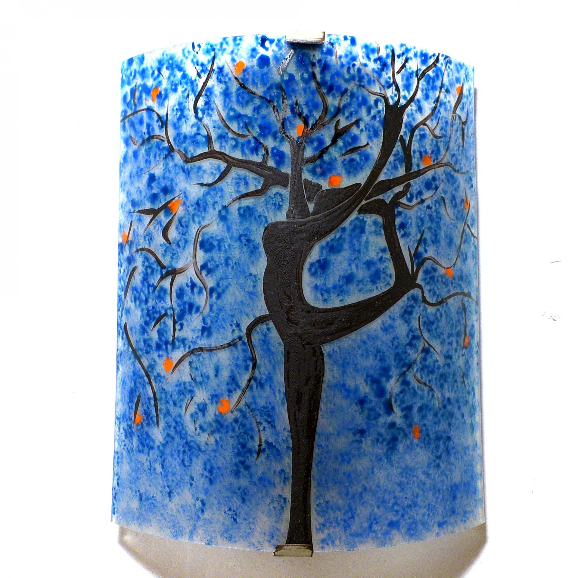 applique luminaire bleu et orange l 39 arbre danseuse. Black Bedroom Furniture Sets. Home Design Ideas