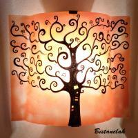 Applique décorative orange motif arbre de vie