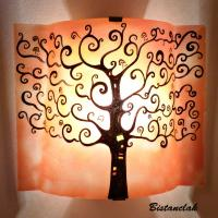 Applique d'ambiance orange motif arbre de vie