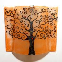 applique luminaire artisanal couleur sable motif arbre de vie