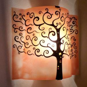 applique orange motif arbre de vie