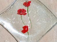 Assiette coquelicot transparente2