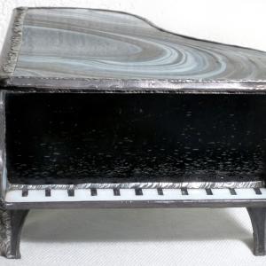Boite piano vitrail clavier