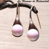 Boucles d oreilles cuillere rose tres pale 1