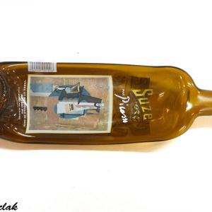 Bouteille vide poche brun clair de la marque suze par picasso