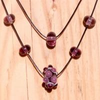 Collier dble rang rose glycine virus 2