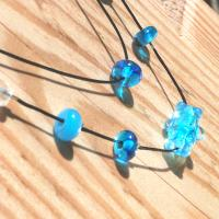 Collier perle double rang virus turquoise 2